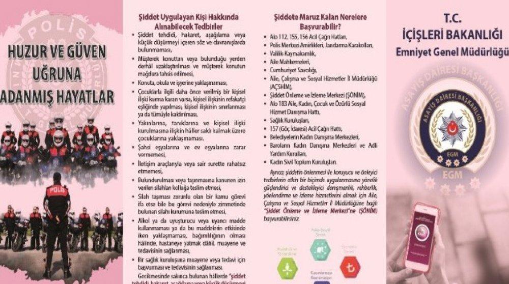 Bayburt Emniyeti Kadın Acil Destek Uygulamasında bilgilendirme Yaptı