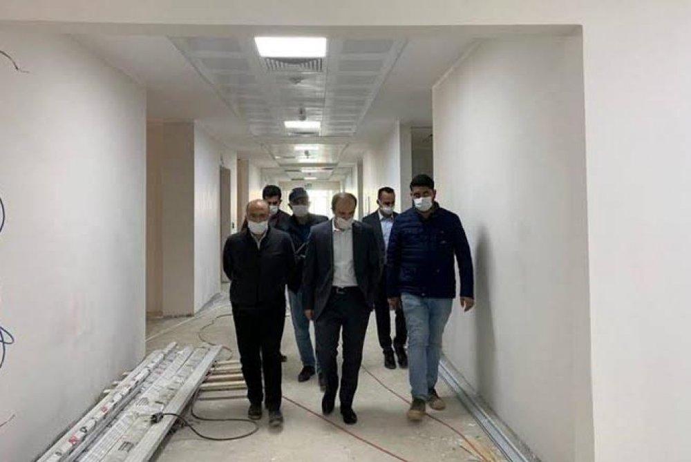 Bayburt Valisi Epçim Yeni Hastaneyi İnceledi