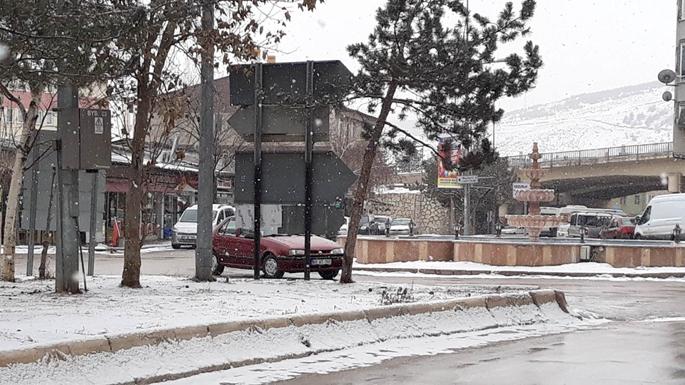Bayburt Tuzcuzade (Galer) Mahallesinden Kar Yağışından Güzel Görüntüler