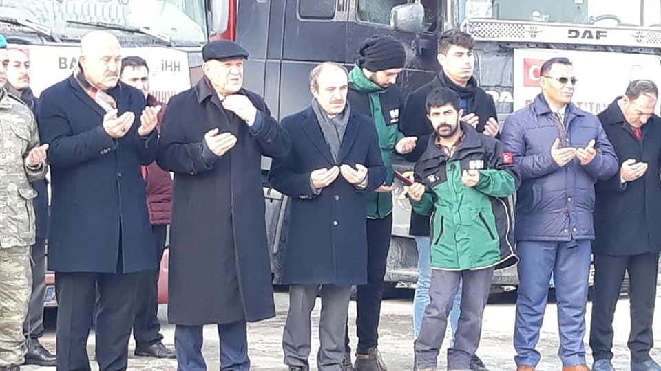 Bayburt'tan Elazığ'dan Sonra İdlib'e Yardım Eli Uzandı