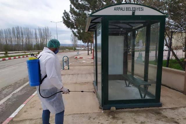 Arpalı' Beldesinde Dezenfekte  Mesaisi