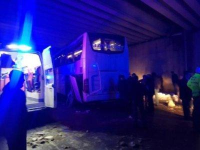 Bayburt Otobüsü Gölovada Kaza Yaptı 9 Yaralı Var