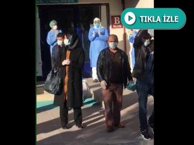 Bayburt'ta Tedavileri Tamamlanan 9 Hasta Alkışlarla Taburcu Edildi