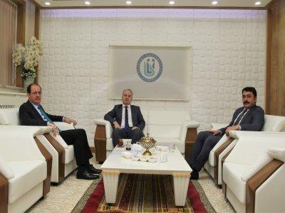 Cumhuriyet Savcıları Serkan Şahbaz ve Muhsin Uysal, Rektör Coşkun'u Ziyaret Etti