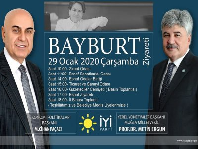 İYİ Parti Heyeti Bayburt'u Ziyaret Edecek