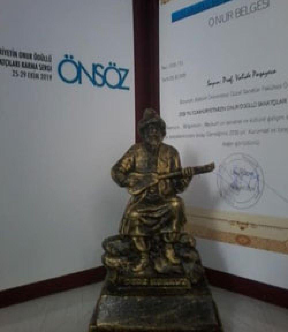 Onur Ödüllü Sanatçılar Bayburt' ta